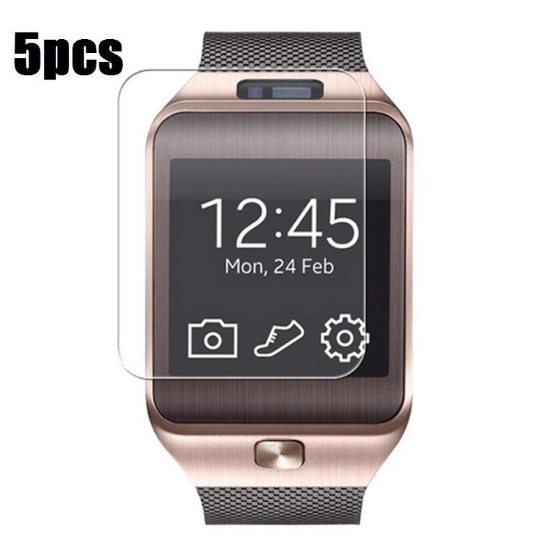 5PCS Set New Transparent LCD Screen Protector Film For DZ09 Bluetooth font b Smart b font