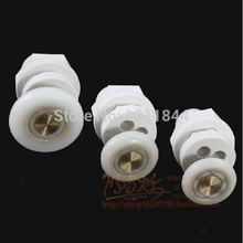 8pcs Circular shower room door roller wheels plastic pulley Shower room accessories Bath Hardware Sets цена