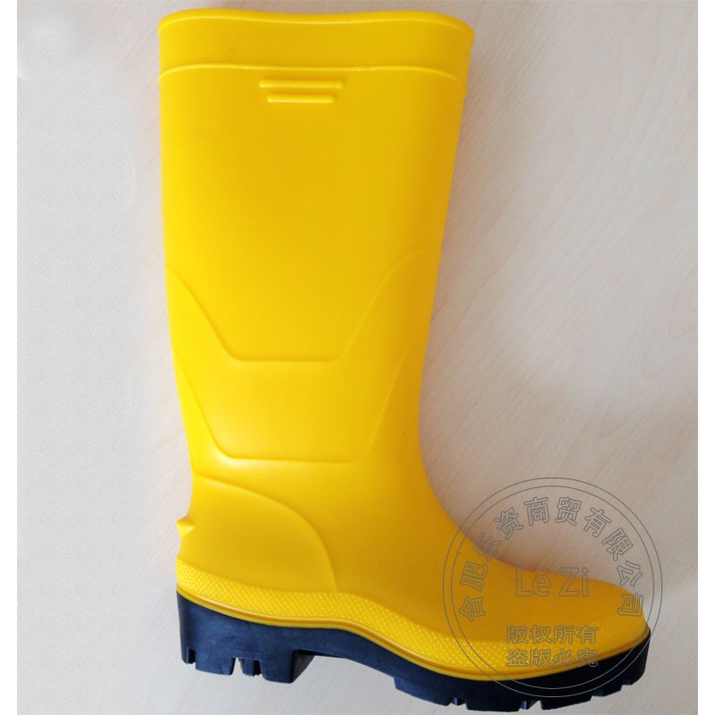 ФОТО Antiskid 42 Number Shoes Rain Boots Wear Gumboots Rubber Individuality Outdoor Classic High Quality Wading Yellow Plus Size