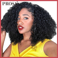 3B 3C Kinky Curly Weave Human Hair Extensions One Piece Peruvian Remy Human Hair Bundles Deals Hair Weaving Prosa Hair Products