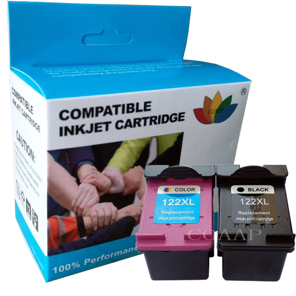 2 compatível hp 122 xl cartucho de tinta para hp 122 122xl tinta para deskjet 1000 1050a 2000 2050 2050a 3000 3050 3050a 1510 impressora