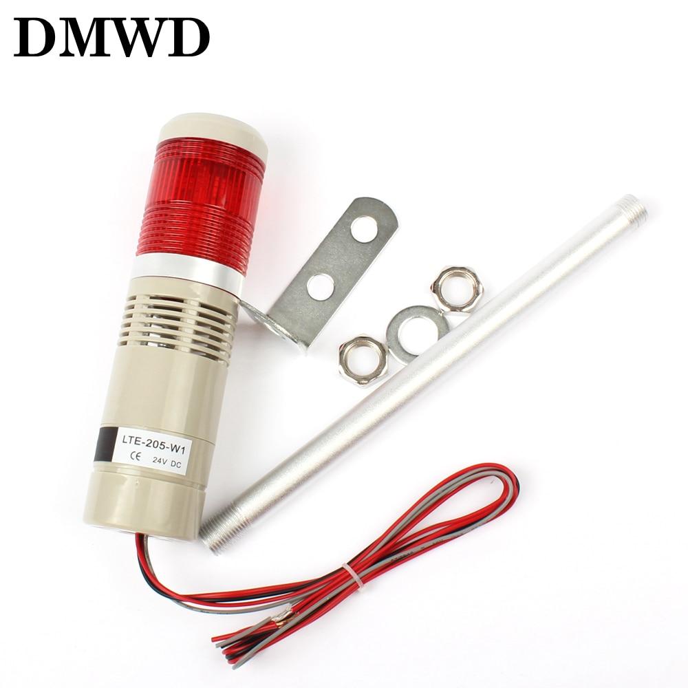 цена на DC12V 24V Safety Stack Lamp Red security warning Flash Industrial Tower Signal warning Light LTA-205 Red AC 110V 220V 1 layer