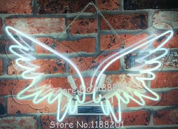 Custom Angel Wings Blue White Red Pink Deep blue Purple Turquoise Green Yellow Glass Neon Light Beer Bar