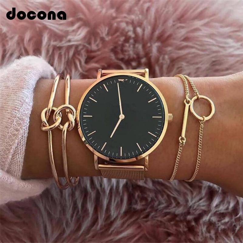 Docona Bohemian stijl, gouden kleur dubbele armband met knopen voor Dames meisjes Vintage metalen kettingen buiten verstelbare ...