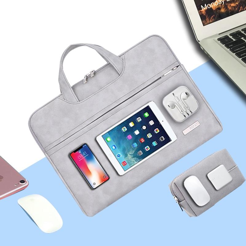PU Leather Laptop Bag Case for Macbook Pro 13 15 mac book air 13 14 inch Laptop Sleeve 15.6 Women Men Waterproof Notebook Bag