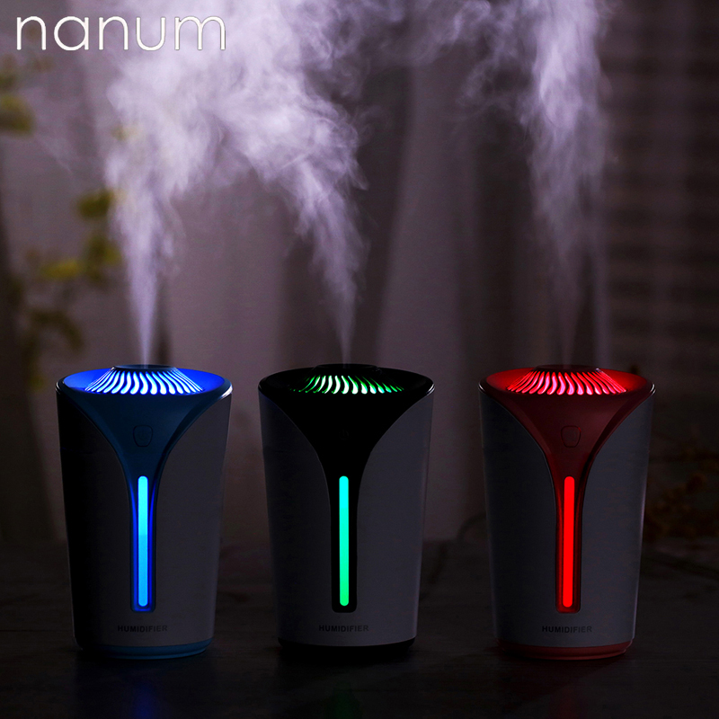 Air Freshener Creative Car Essential Oil Diffuser Mini Ultrasonic Hot Heart Cup Humidifier Led Light Usb Aromatherapy Fogger For Office Home Interior Accessories