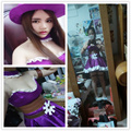 LOL cosplay The Sheriff of Piltover Policewoman Caitlyn Uniform Dress Caitlyn Blue Police Uniform Halloween Costumes