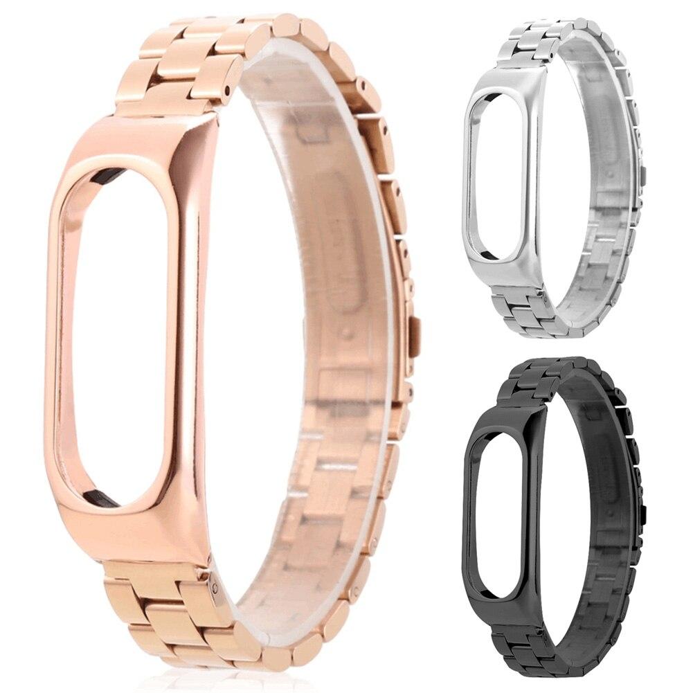 Remplacement En Acier Inoxydable De Luxe Bracelet Ultra-mince Bracelet Pour Xiaomi Mi Bande 2 @ JH