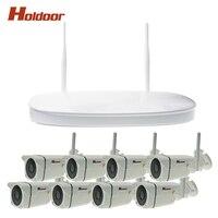 8CH 720P Wireless CCTV System Wireless NVR IP Camera IR-CUT Night Vision Waterproof IP66 Bullet CCTV Home Security System CCTV K