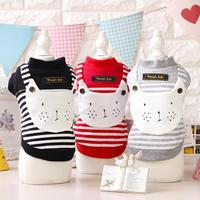 2016 Clothes For Dog Clothing Puppy Pet Apparel Cotton Winter Warm Cartoon Cat Striped Dog Sweater