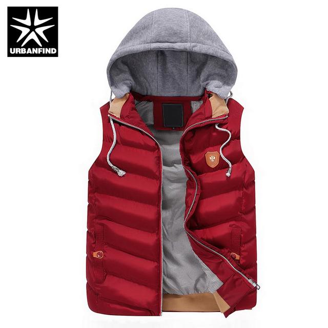 Urbanfind homens clothing casacos colete de algodão outono inverno big size l-4xl patchwork design homem marca de moda colete