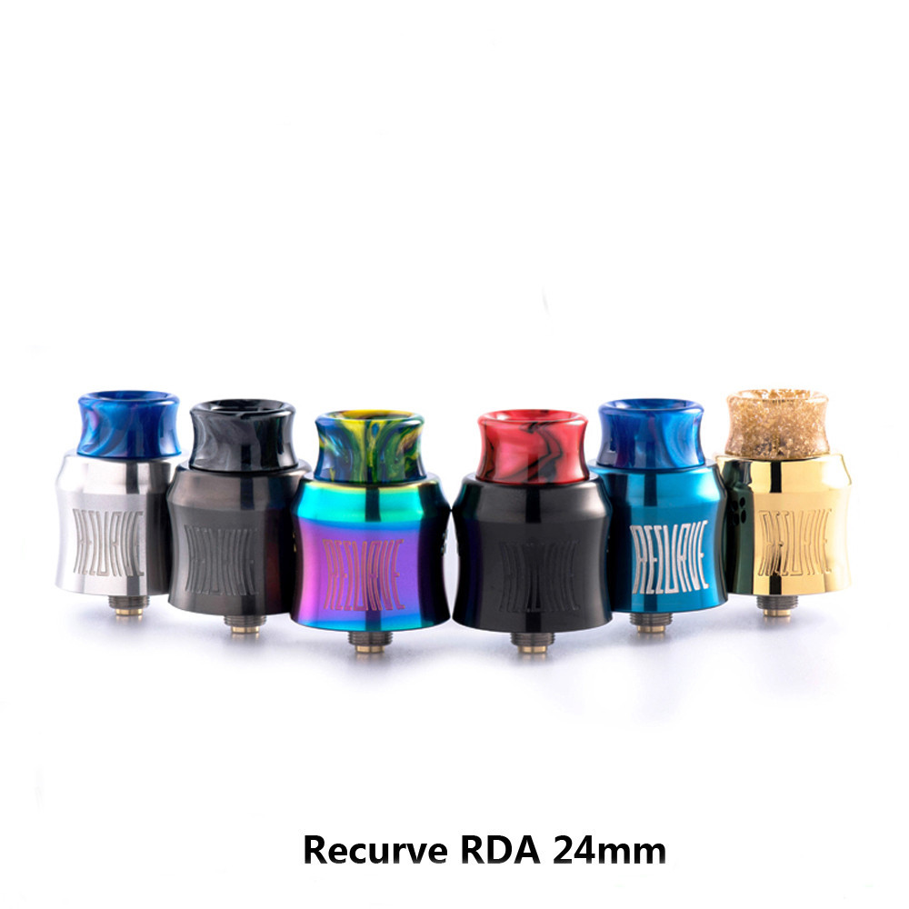 Original Wotofo Recurve RDA 24mm Tank Vape Rebuilding Dripping Atomizer single coil vape tank E-cigarette atomizer niko 50pcs chrome single coil pickup screws