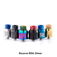 Original Wotofo Recurve RDA 24mm Tank Vape Rebuilding Dripping Atomizer Single Coil Vape Tank E Cigarette