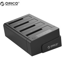 ORICO 6648US3-C USB 3.0 2.5 & 3.5 inch SATA External Hard Drive Dock 4-Bay Off-line Clone Hdd Docking Station – Black