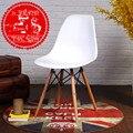 Cadeiras de Sala De estar Sala de Mobiliário Móveis Para Casa de plástico + café cadeira de jantar de madeira 81*53*46 estilo venda inteira