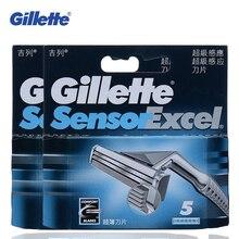 Gillette Датчик Excel Бритвы Лезвия (include10Blades нет ручки бритвы) для Мужчин Бритвы Sharp Бритвы Сменные Головки лезвие