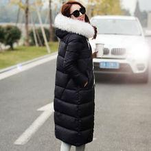 2015 Hot New Thicken Warm Woman Down jacket Coat Parkas Outerwear Luxury Hooded Raccoon Fur collar Long Slim  Plus Size 3XXXL