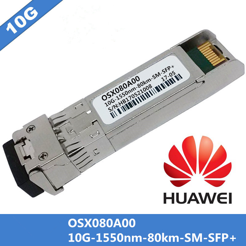 Voor Huawei OXS080A00 SFP + Fiber Optische Schakelaar Module 10G 1550nm 80km SM SFP + Single mode Dupelx Fiber Kabel LC connnector