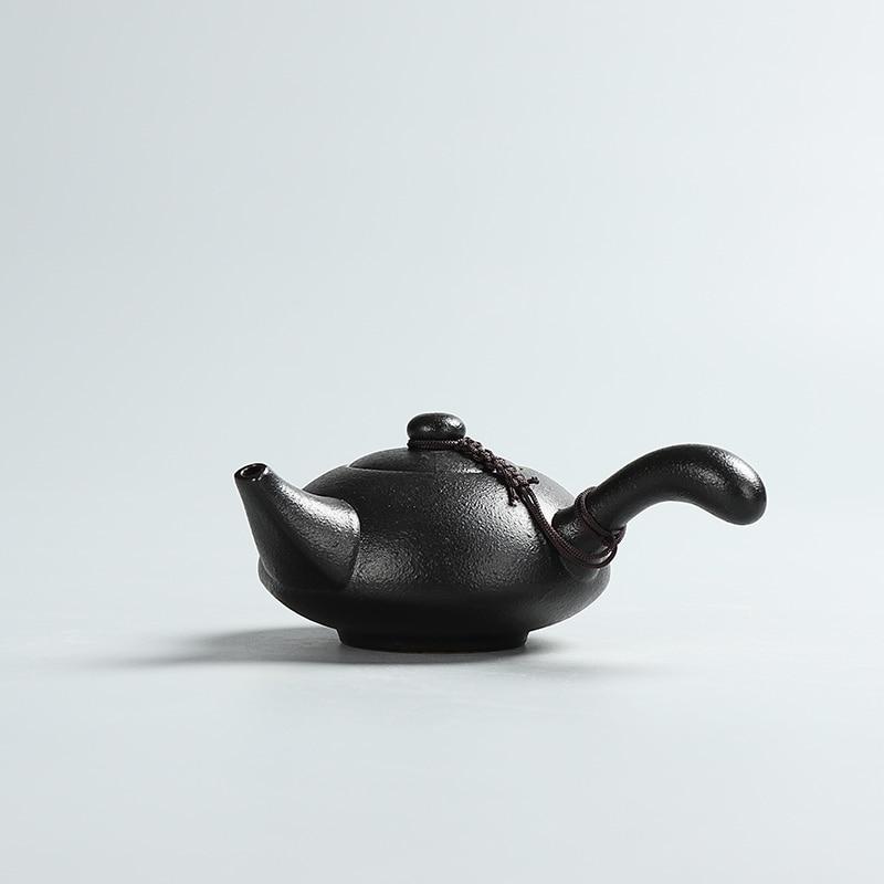Kreative schwarze Keramik Teekannen handgemachte Vintage Keramik - Küche, Essen und Bar - Foto 4