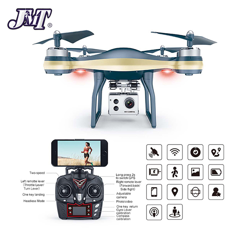 JMT K10 GPS 5G Wifi FPV Drone With 1080P 720p Adjustable Camera 25mins Flight Time Low