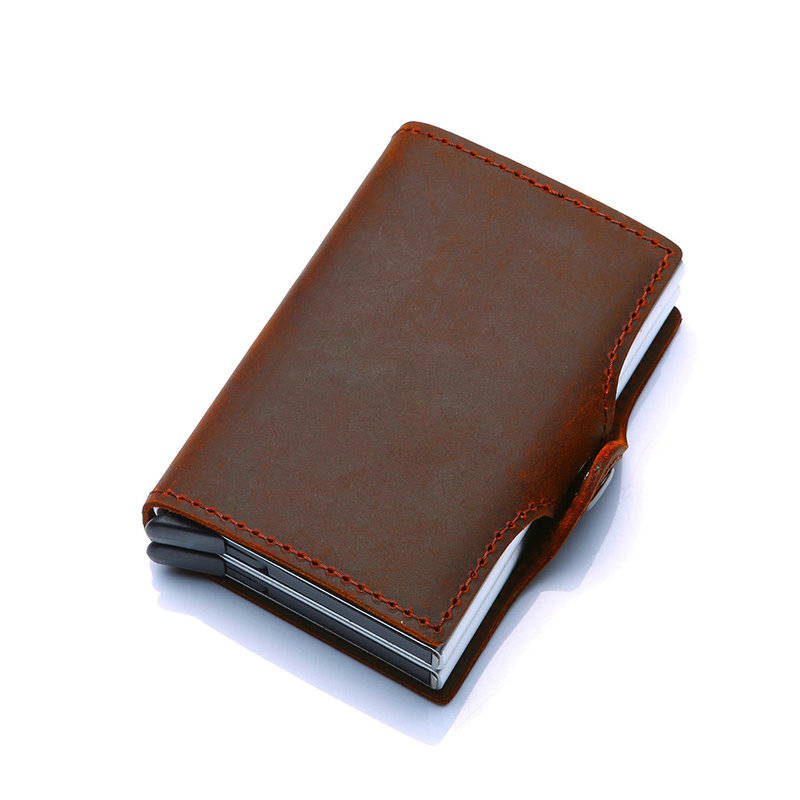 metal rfid bloqueio caixa dupla creditcard caso saco proteção