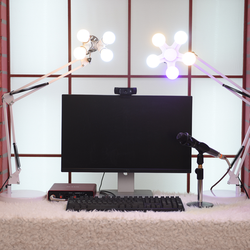 Live lighting decorative table lamp computer mobile phone lighting self-posed makeup bedroom table light 4/5 heads ZSH5073 sl 107 mobile phone live fill light external beauty lighting table lamp anchor led self timer lamp adjustable charging flash