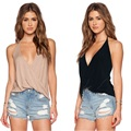 SexeMara Cropped Strappy Bra 2016 New Spring Summer Women Elegant Sexy Collar Sleeveless 2 Color Vests Blouse Tops Shirts Plus