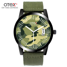 ot01 Hot sell Fashion New Hot Sport Men Women Watch Gift Army Sport Style canvas  Bracelet Wrist Watch