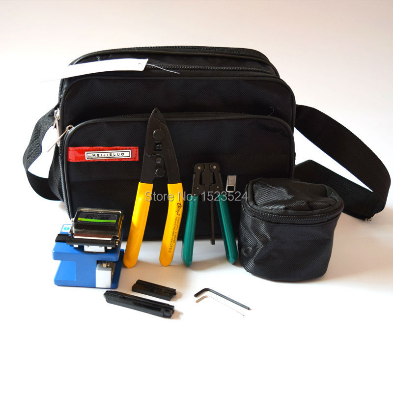 5 in 1 FTTH Tool Kits with Fiber Cleaver Fixed Length Stripper Drop Cable Stripper CFS