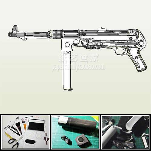 MP38 MP40 Machinepistool Model Schaal 1: 1 DIY Handgemaakte Papier Speelgoed Toevallige Puzzel Decoratie