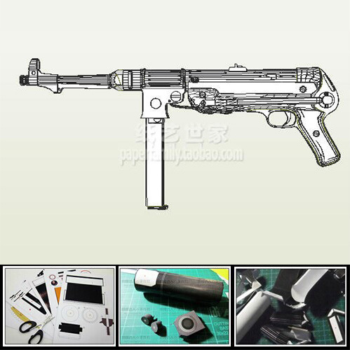 US $16 88 |MP38 MP40 Submachine Gun Model Scale 1: 1 DIY Handmade Paper Toy  Casual Puzzle Decoration-in Model Building Kits from Toys & Hobbies on
