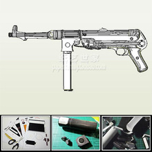MP38 MP40 Submachine Gun Model Scale 1: 1 DIY Handmade Paper Toy Casual Puzzle Decoration storm snow space shuttle energy number carrier rocket puzzle handmade paper model rocket 1 96 scale high 45cm diy paper art