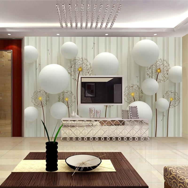 living tapet paper mural bedroom cu cloth wallpapers minimalist sofa european murals stereo beibehang decoration pentru modele interior papadii poze