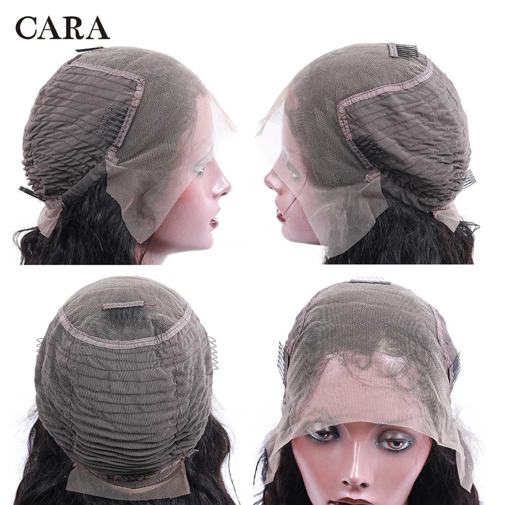 250 gęstość koronki peruka 13x6 ludzki włos koronki przodu peruki dla kobiet peruka body wave brazylijski włosy Remy ludzki włos koronki przodu 30 cal peruka CARA