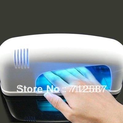 220V  9W White Nail Art UV Gel Curing Lamp Dryer Light NAIL UV LAMP 9W NAIL MACHINE EURO plug