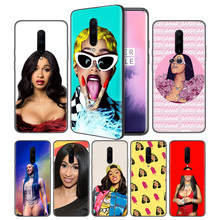 Cardi B Soft Black Silicone Case Cover for OnePlus 6 6T 7 Pro 5G Ultra-thin TPU Phone Back Protective