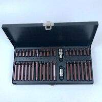 40PCS S 2 Torx Socket Set Hex Material Sleeve batches Tool Set 3/8 1/2Drive Sockets Spline Bits for Automotive Tools