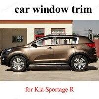 Acessórios do carro exterior de aço inoxidável janela guarnição estilo do carro para k ia sportage r|window trim|stainless steel windowcar window trim -
