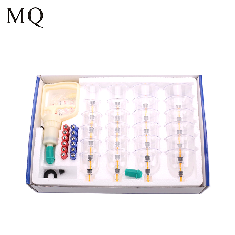 MQ 24 Cups Vacuum Cupping Set Massage Cans Chinese Medical Cupping Sets Device Massager Health Monitors Massage Therapy Kit