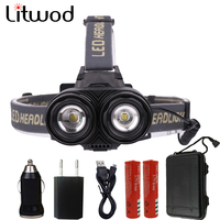 Litwod Z20 LED Headlamp 8000LM Head Lamp XM L T6 Headlight Zoom torch head flashlight light For Fishing Camping Light