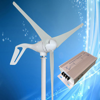 2019 New Type 400W Wind Turbine with 3/5PCS Blades + 600W Wind Turbine Charge Controller with Manual Brake Function