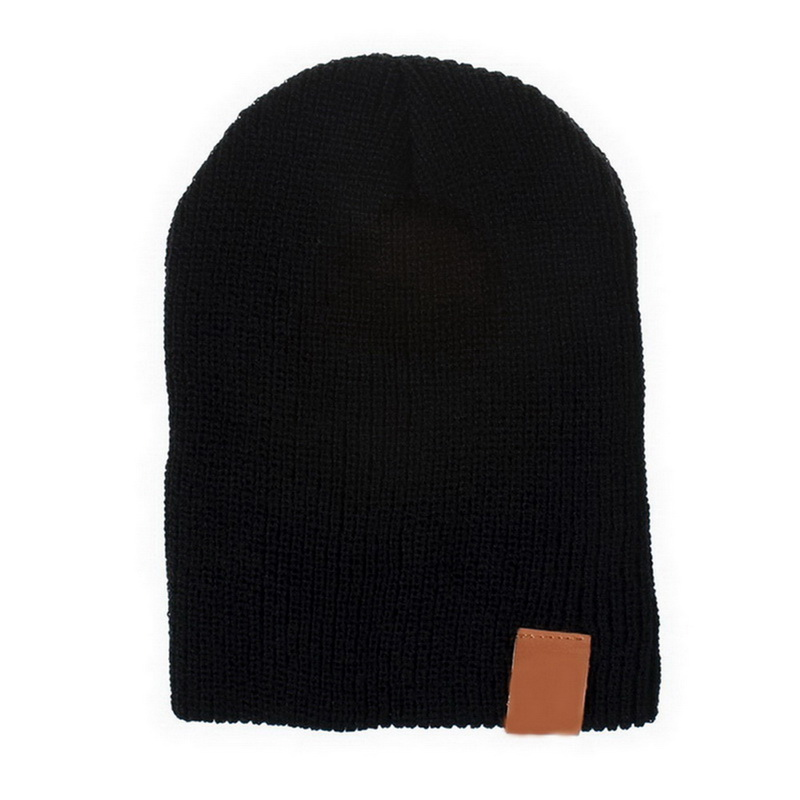 Drop shipping HEFLASHOR Boys&Girls Kids Winter Cap Elastic Outdoor Solid Color Soft Warm Knitted Hat Beanies Skull Hat Cap