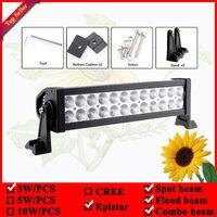 72W 14 LED Spot Flood Combo Light Bar 4WD SUV Truck Driving Offroad Lamp