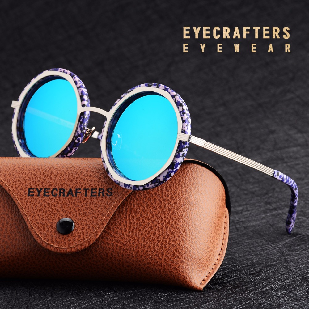 Retro Brand Designer Fashion Womens Round Oversized Sunglasses Polarized Metal Frame Sun Glasses Shade Gafas Oculos Eyewear