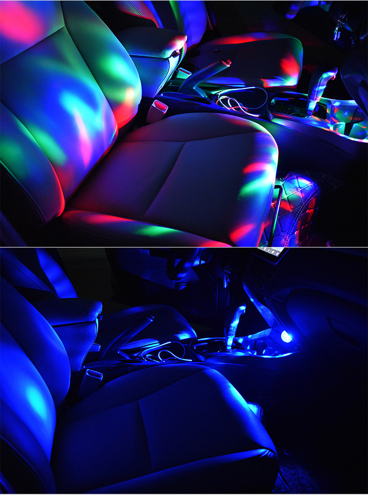 Image 5 - Led USB Car Atmosphere Light 5V RGB Mini Romantic 3W Holiday Lights DJ Music Sound Lamp for USB C Phone Surface Enjoy Football-in Signal Lamp from Automobiles & Motorcycles