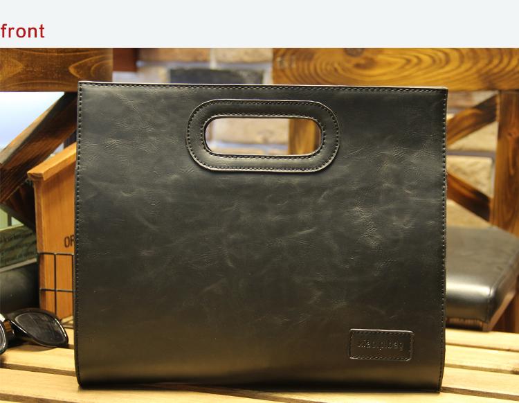 Business Casual Men Leather Designer Handbag High Quality Male Wallet Famous Brand Men's Large Capacity Clutch Bag Brown black 80