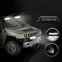exLED 2×7″ 30W Single Row Spot LED Light Bar Driving Lamp LED Work Light IP67 Waterproof for Off Road Truck Car ATV SUV