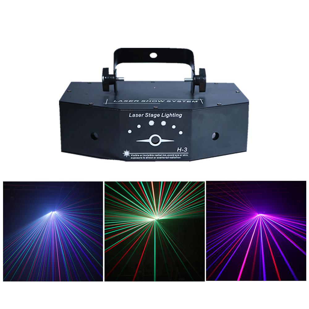 AUCD 3 Lens RGB Full Color Scann Laser Lights Disco 7CH DMX Sound AUTO Beam Lamp DJ Party Ray Show Projector Stage Lighting H-3AUCD 3 Lens RGB Full Color Scann Laser Lights Disco 7CH DMX Sound AUTO Beam Lamp DJ Party Ray Show Projector Stage Lighting H-3