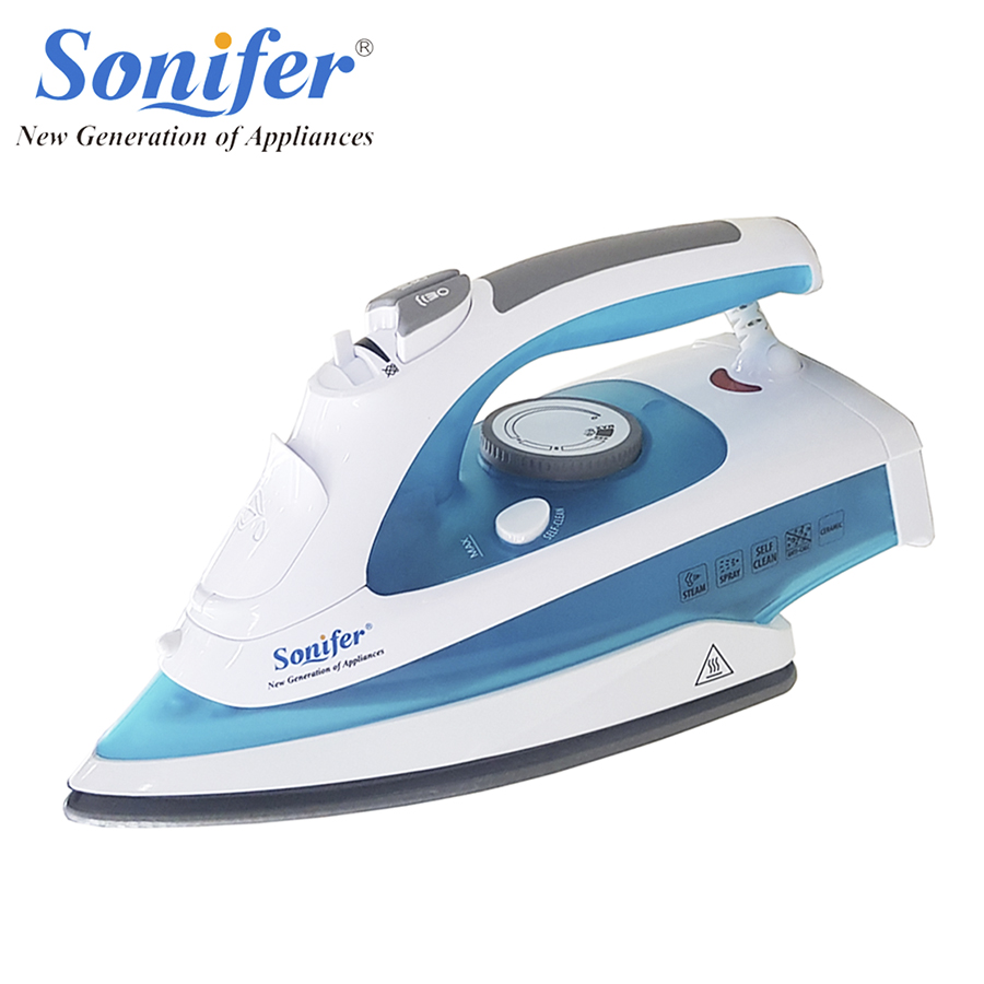 2200W High quality Electric Steam Iron For Clothes Multifunction Adjustable Ceramic soleplate iron for ironing Sonifer 2200w original household portable electric steam iron for clothes high quality ceramic soleplate three gears sonifer