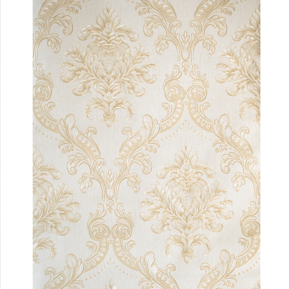 Aliexpress Com Buy Gold White Damask Wallpaper Luxury